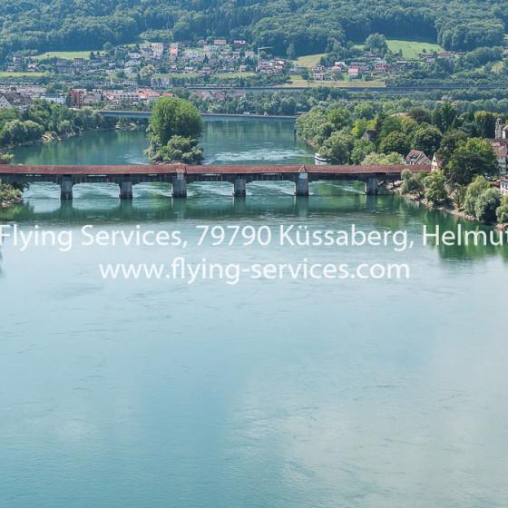 Luftbild Bad Säckingen Holzbrücke FS P1050700