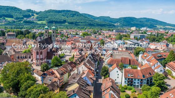 Luftbild Bad Säckingen Münster & Stadtkern FS P1050683
