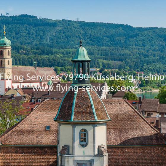 Luftbild Bad Säckingen Schloss & Münster FS P1050621