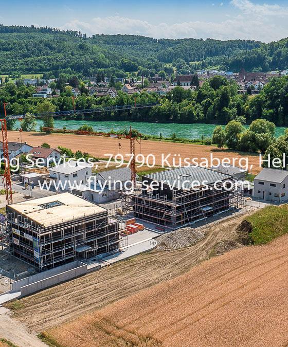 Luftbild Baudokumentation Neubaugebiet Rheinheim FS P1050092