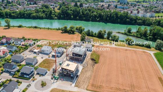Luftbild Baudokumentation Neubaugebiet Rheinheim FS P1050110