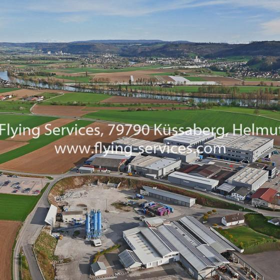 Luftbild Gewerbegebiet Küssaberg FS P1020031
