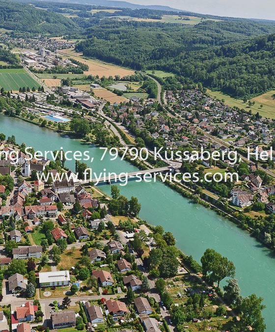 Luftbild Rheinheim Zurzach & Rheinaufwärts FS P1050108