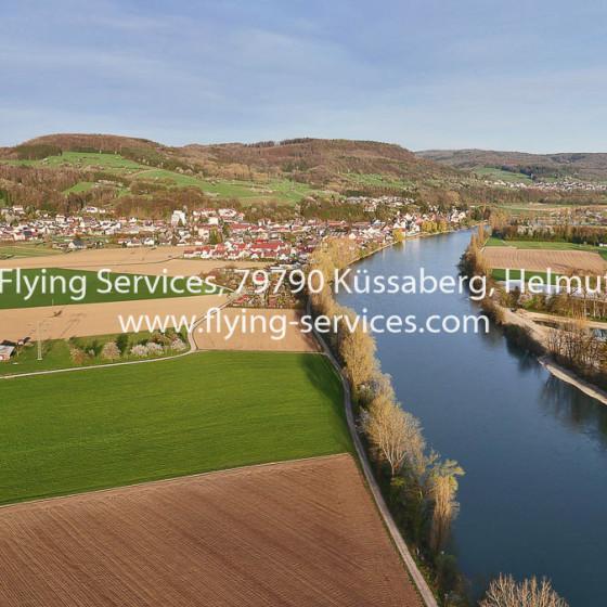 Luftbild Rheintal bei Kadelburg FS P1020076