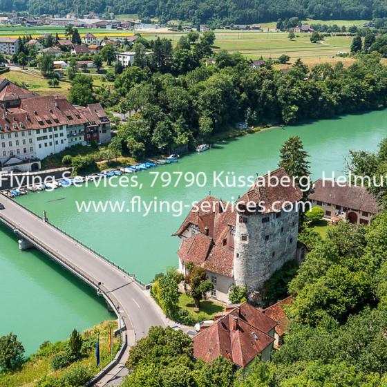 Luftbild Schloss Röteln-CH Kaiserstuhl FS P1040816