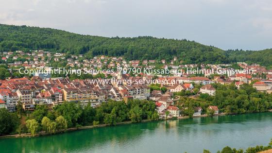 Luftbild Stadt Waldshut aus CH-Sicht FS P1050159