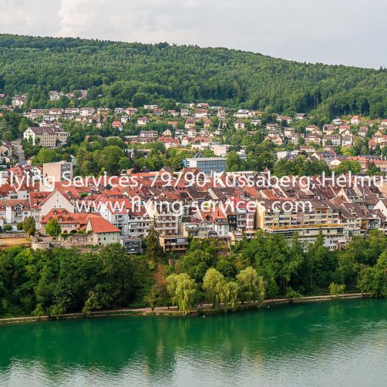 Luftbild Stadt Waldshut aus CH-Sicht FS P1050160